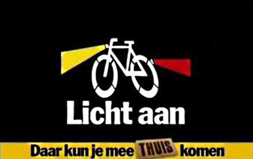 Controle fietsverlichting: lampjes in plaats van boetes - Sleutelstad.nl
