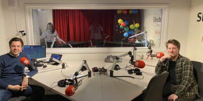 Julius Terpstra (CDA) en Thomas van Halm (SP) in de Sleutelstad studio, door: Adil Lachhab